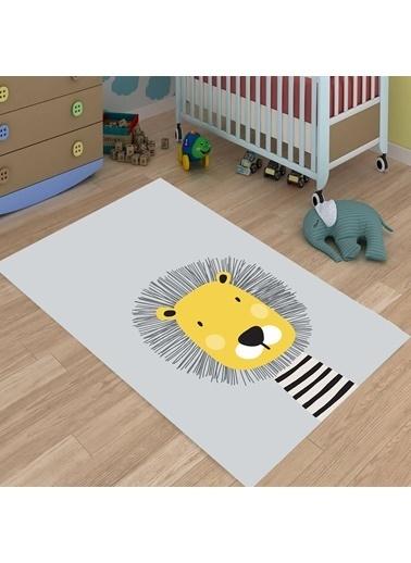 Meg & Cloud Sevimli Hayvanlar Desenli Dijital Baskılı Kaymaz Taban Çocuk Odası Halısı Renkli